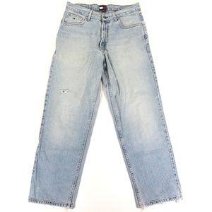 Tommy Hilfiger Mens 32x30 Light Wash Jeans